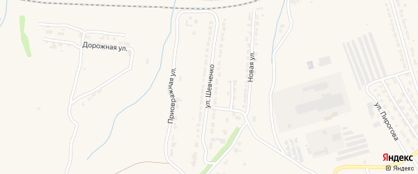 Улица Шевченко на карте Алатыря с номерами домов