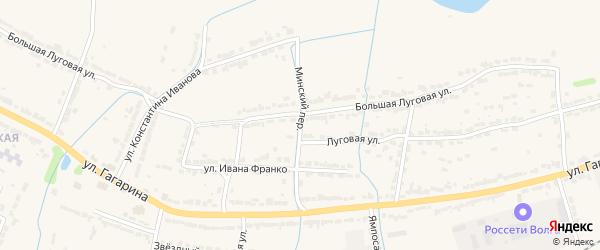 Минский переулок на карте Алатыря с номерами домов