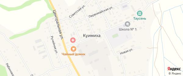 Строительная улица на карте деревни Куимихи с номерами домов