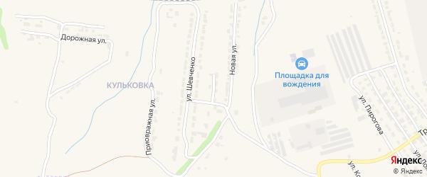 Западный тупик на карте Алатыря с номерами домов
