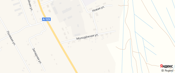 Молодежная улица на карте деревни Куимихи с номерами домов