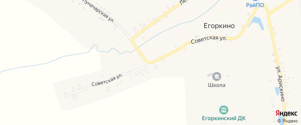 Советская улица на карте деревни Егоркино(Егоркинского поселения) с номерами домов
