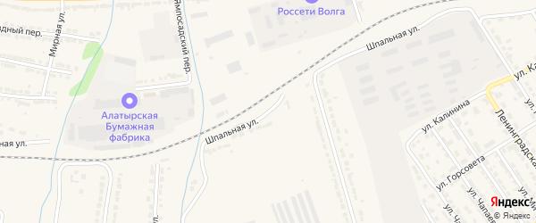 Шпальная улица на карте Алатыря с номерами домов