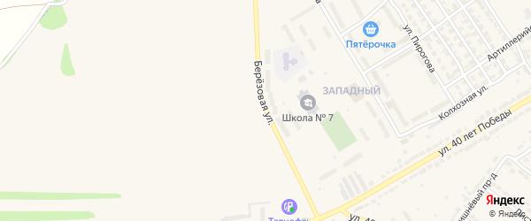Березовая улица на карте Алатыря с номерами домов