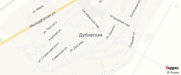 Крайний переулок на карте Дубовской станицы с номерами домов