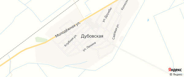 Карта Дубовской станицы в Чечне с улицами и номерами домов