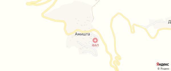 Амиштинская улица на карте села Амишты с номерами домов