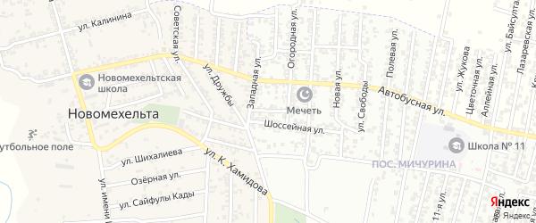 Западный проезд на карте Хасавюрта с номерами домов