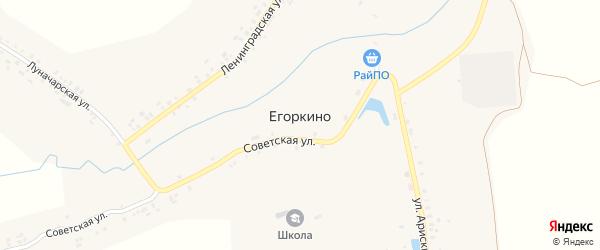 Солнечная улица на карте деревни Егоркино(Егоркинского поселения) с номерами домов