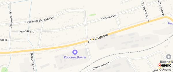 Энергетический переулок на карте Алатыря с номерами домов