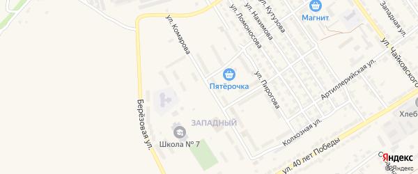 Улица Комарова на карте Алатыря с номерами домов