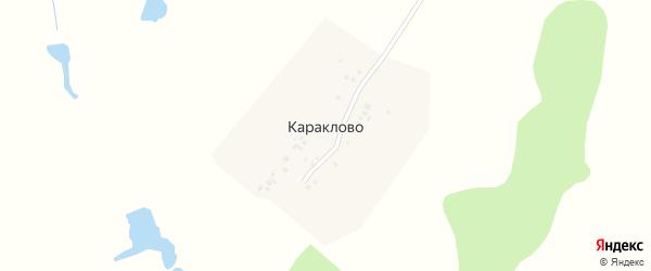 Улица Романова на карте деревни Караклово с номерами домов