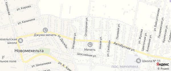 Огородная улица на карте Хасавюрта с номерами домов