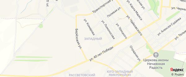Западный ГСК на карте Алатыря с номерами домов