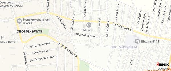 Шоссейная улица на карте Хасавюрта с номерами домов