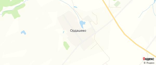 Карта деревни Ордашево в Чувашии с улицами и номерами домов