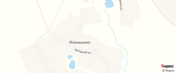 Звездная улица на карте деревни Ихонькино с номерами домов