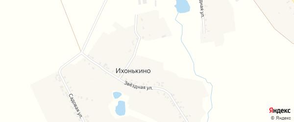 Конный переулок на карте деревни Ихонькино с номерами домов