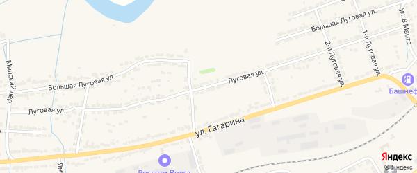 Луговая улица на карте Алатыря с номерами домов