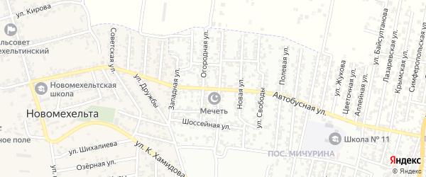 Автобусная улица на карте Хасавюрта с номерами домов
