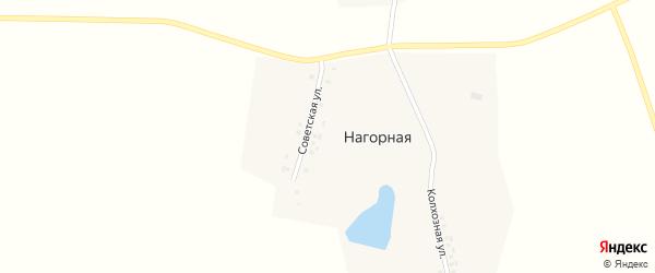 Колхозная улица на карте Нагорной деревни с номерами домов