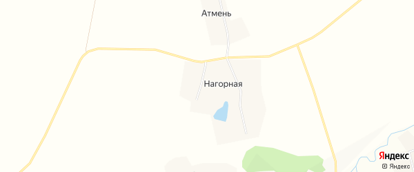 Карта Нагорной деревни в Чувашии с улицами и номерами домов
