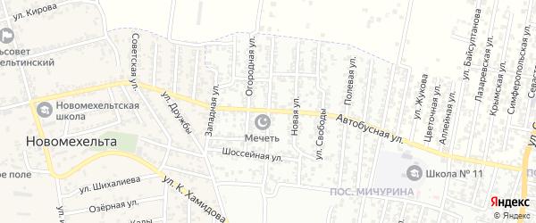 Боташюртовская улица на карте Хасавюрта с номерами домов