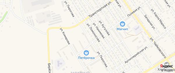 Улица Пирогова на карте Алатыря с номерами домов