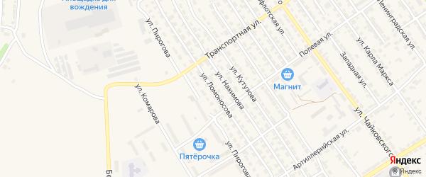 Улица Ломоносова на карте Алатыря с номерами домов