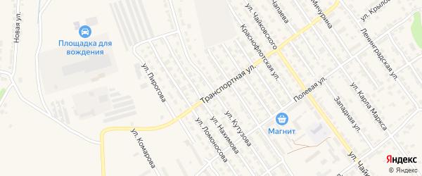 Улица Кутузова на карте Алатыря с номерами домов