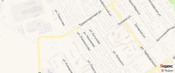Улица Нахимова на карте Алатыря с номерами домов