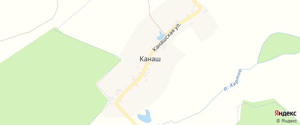 Канашская улица на карте выселков Канаша с номерами домов