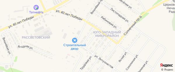 Строительная улица на карте Алатыря с номерами домов