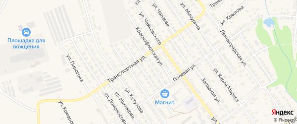 Улица Суворова на карте Алатыря с номерами домов