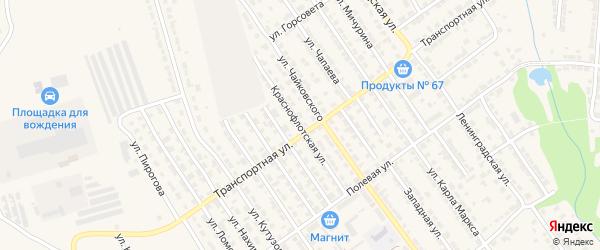 Краснофлотская улица на карте Алатыря с номерами домов