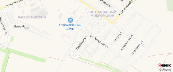 Трудовая улица на карте Алатыря с номерами домов