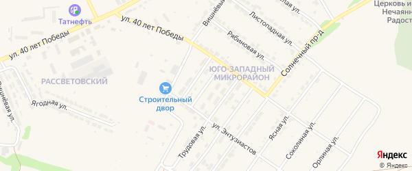 Парковая улица на карте Алатыря с номерами домов