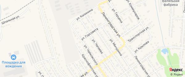 Улица Чапаева на карте Алатыря с номерами домов