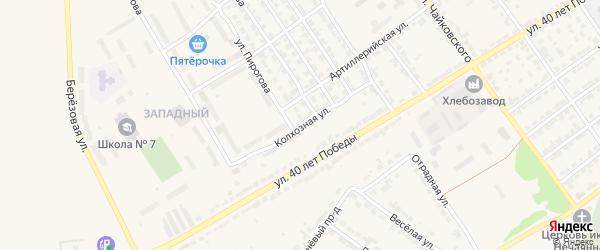 Колхозная улица на карте Алатыря с номерами домов