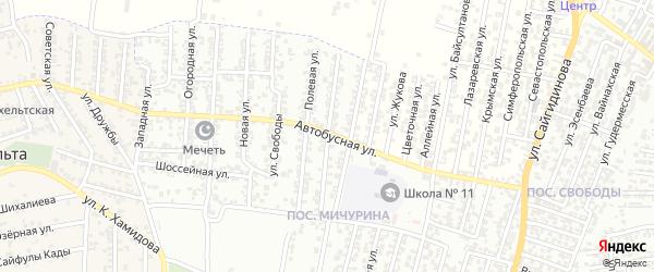 Улица Космонавтов на карте Хасавюрта с номерами домов