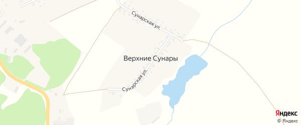 Сунарская улица на карте деревни Верхние Сунары с номерами домов