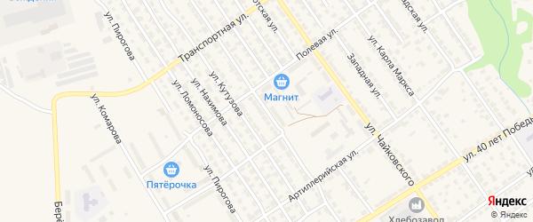 Улица Урицкого на карте Алатыря с номерами домов