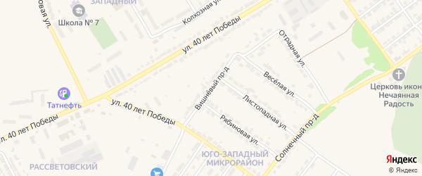 Вишневый проезд на карте Алатыря с номерами домов