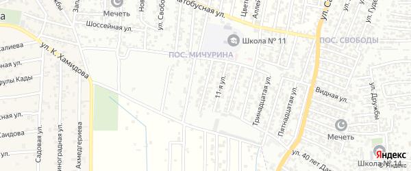 10-я улица на карте поселка Мичуриной с номерами домов