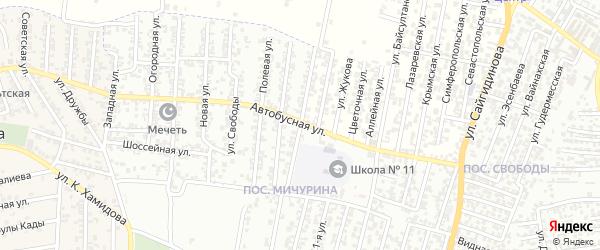Османюртовская улица на карте Хасавюрта с номерами домов
