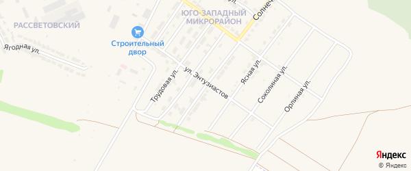 Солнечная улица на карте Алатыря с номерами домов