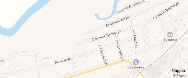Большая Луговая улица на карте Алатыря с номерами домов