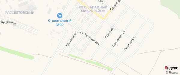 Улица Энтузиастов на карте Алатыря с номерами домов