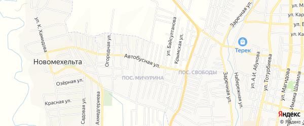 Карта поселка Мичуриной города Хасавюрта в Дагестане с улицами и номерами домов