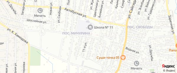Оросительная улица на карте Хасавюрта с номерами домов